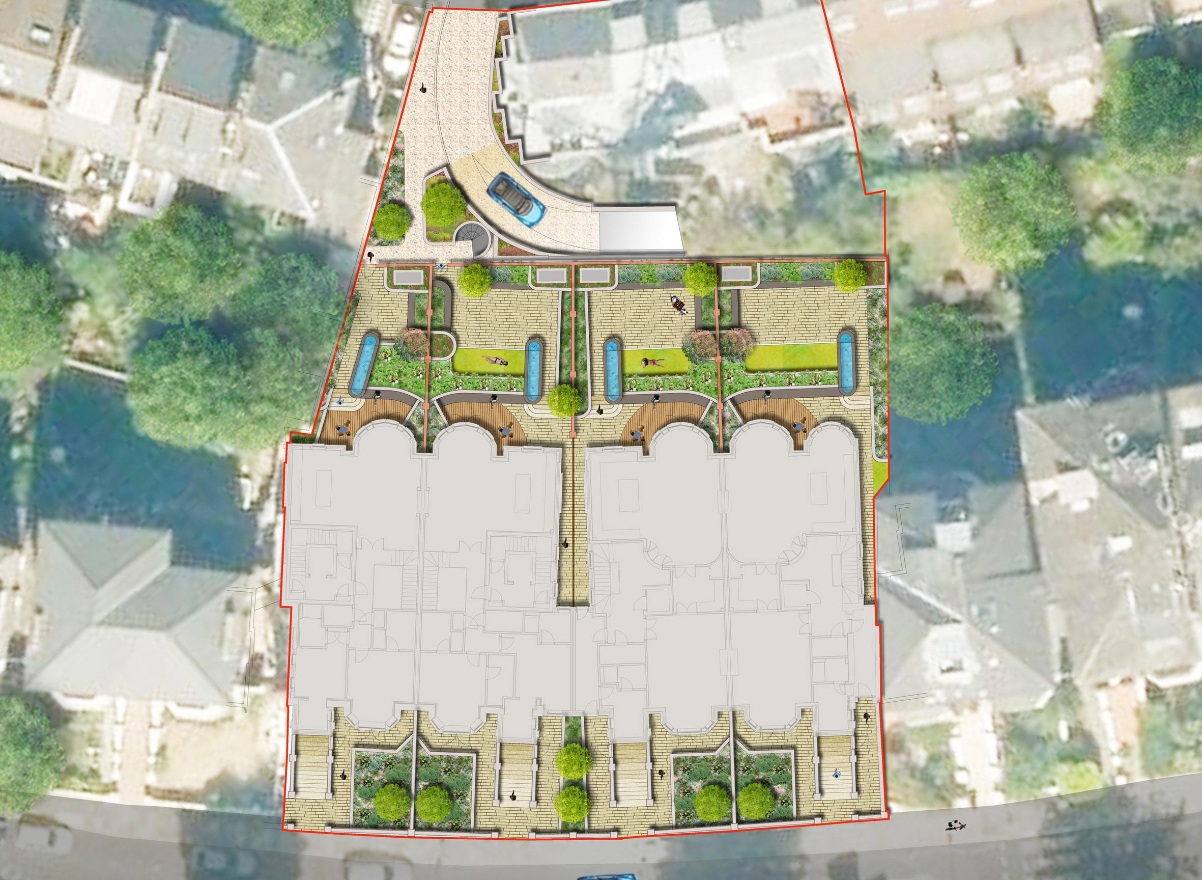 Davis Landscape Architecture Belsize Park London Residential Architect Rendered Plan