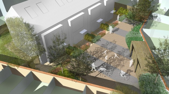 Davis Landscape Architects Clyde Road Residential Landscape Architect Rendered Visualisation