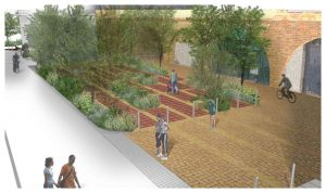 Davis Landscape Architecture 1 Crown Street London Home Zone Mixed Use Public Realm Residential Landscape Render Planning Icon