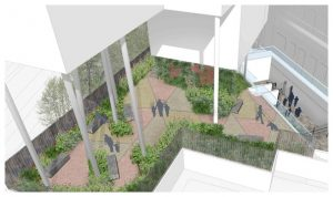 Davis Landscape Architecture 1 Iverson Road London Residential Landscape Rendered Visualisation Courtyard Icon