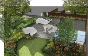 Davis Landscape Architects Little Heath Residential Landscape Architect Render Visualisation