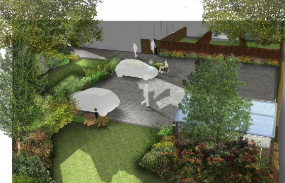 Davis Landscape Architects Little Heath Residential Landscape Design Architect Render Visualisation
