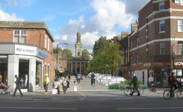 Davis Landscape Architects Liverpool Grove London Public Realm Landscape Design Architect Feasibility Study Visualisation