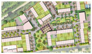 Davis Landscape Architecture 1 Oxford Greyhound Stadium Home Zone Residential Landscape Rendered Site Wide Masterplan Icon