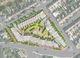 Davis Landscape Architects Ruckholt Road London Residential Landscape Architect Rendered Masterplan