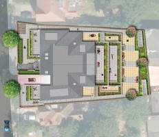 Davis Landscape Architects The Grove London Residential Landscape Architect Design Roof Garden Rendered Plan