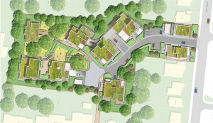 Davis Landscape Architecture Tyson Road London Residential Landscape Architect Rendered Masterplan
