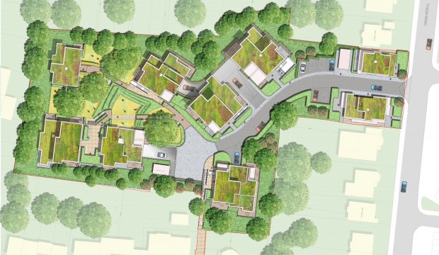 Davis Landscape Architects Tyson Road London Residential Landscape Architect Design Rendered Masterplan