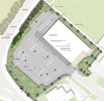 Davis Landscape Architecture Witham Commercial Landscape Architect Rendered Masterplan