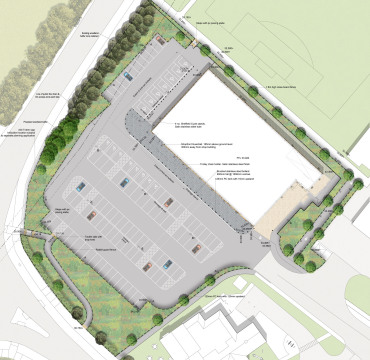 Davis Landscape Architects Witham Commercial Landscape Architect Design Rendered Masterplan