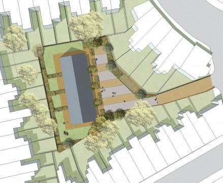Davis Landscape Architects Clyde Road Residential Landscape Architect Rendered Plan