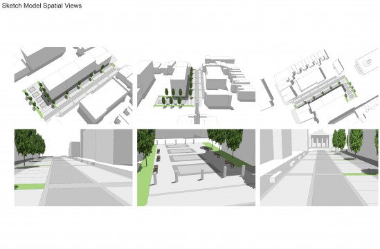 Davis Landscape Architects Liverpool Grove London Public Realm Landscape Architect Design Feasibility Study Model