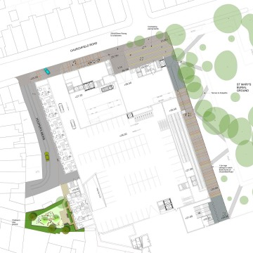 Davis Landscape Architects The Oaks, Acton London Mixed Use Landscape Architect Ground Floor Plan Planning
