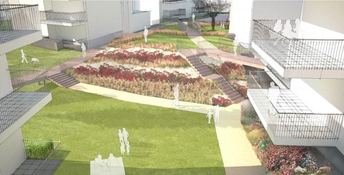 Davis Landscape Architects Tyson Road London Residential Landscape Architect Design Rendered Visualisation