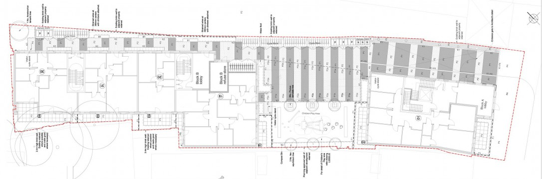 Davis Landscape Architects Bow Road London Home Zone Residential Landscape Architect Design Technical Plan