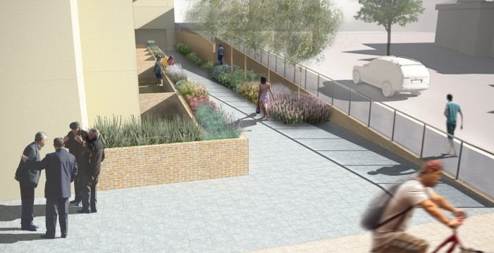 Davis Landscape Architects Finchley Road London Residential Landscape Design Architect Render Visualisation Public Realm