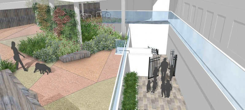 Davis Landscape Architects Iverson Road London Residential Landscape Design Architect Rendered Visualisation Patios