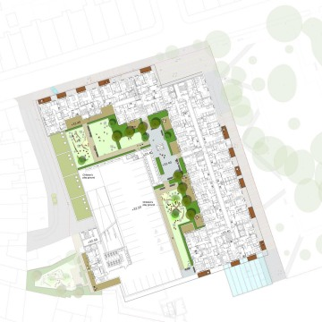Davis Landscape Architects The Oaks, Acton London Mixed Use Landscape Architect Second Floor Roof Garden Plan Planning