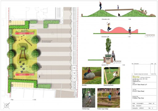 Davis Landscape Architects Bow Road London Home Zone Residential Landscape Architect Design Play Area Plan