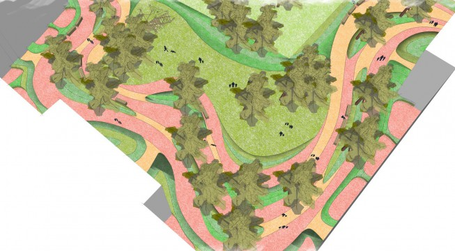Davis Landscape Architects Gutenborg, Russia Residential Landscape Architect Sketchup Render Plan