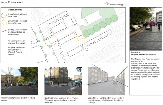 Davis Landscape Architects Liverpool Grove London Public Realm Landscape Design Architect Feasibility Study Constraints