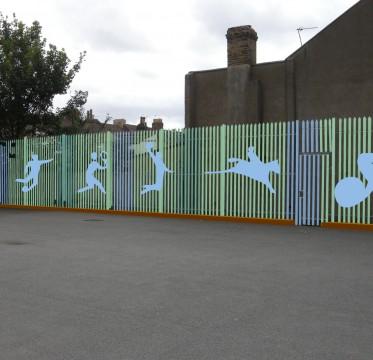 Davis Landscape Architects Avenue Primary School London Landscape Architect Boundary Proposal Visualisation