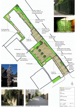 Davis Landscape Architects Bow Road London Home Zone Residential Landscape Design Architect Hand Sketch Concept Board