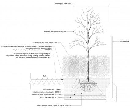 Davis Landscape Architects Clyde Road Residential Landscape Architect Technical Detail