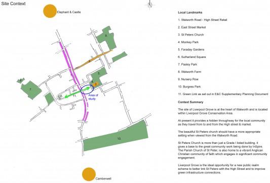 Davis Landscape Architects Liverpool Grove London Public Realm Landscape Architect Design Feasibility Study Context
