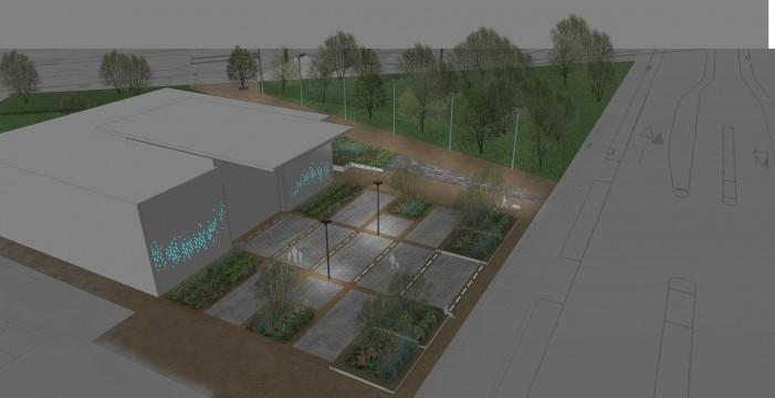 Davis Landscape Architects East Village Marketing Suite London Public Realm Landscape Architect Visualisation Render Night