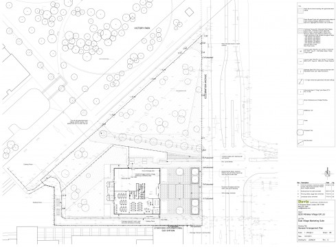 Davis Landscape Architects East Village Marketing Suite London Public Realm Landscape Architect Technical Plan