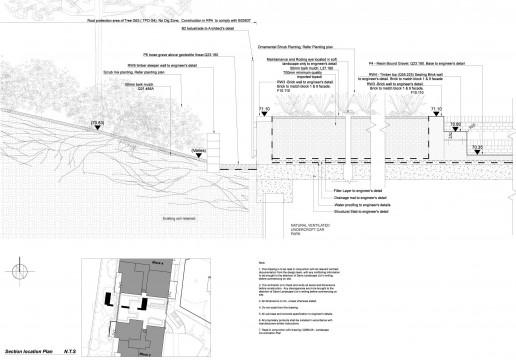 Davis Landscape Architects Tyson Road London Residential Landscape Design Architect Technical Section