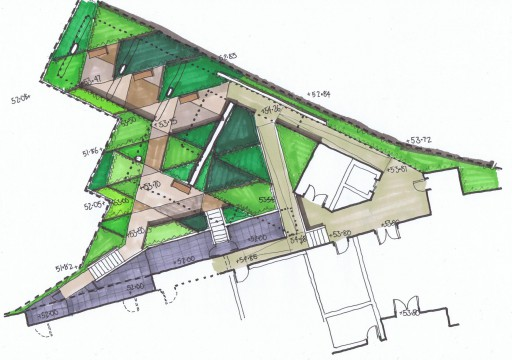 Davis Landscape Architects Iverson Road London Residential Landscape Design Architect Hand Rendered Sketch Concept Layout