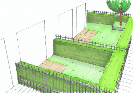 Davis Landscape Architects Oxford Greyhound Stadium Home Zone Residential Landscape Design Architect Hand Sketch Visualisation Private Gardens