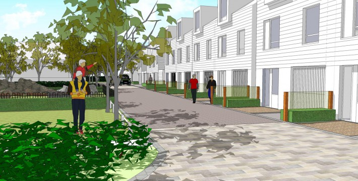 Davis Landscape Architects Star Lane Ph 1 Great Wakering Home Zone Residential Landscape Architect Design Sketchup Visualisation