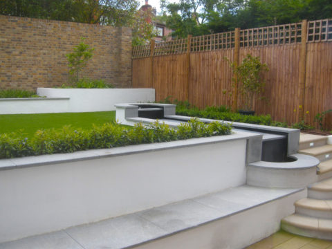 Davis Landscape Architecture Belsize Park London Residential Landscape Architect Seat Water Feature