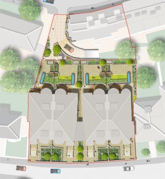 Davis Landscape Architecture Belsize Park London Residential Landscape Architect Podium Deck Rendered Masterplan