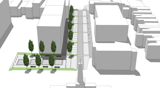 Davis Landscape Architecture - Liverpool Grove London Public Realm Landscape Feasibility Study Model 1