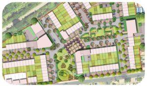 Davis Landscape Architecture Oxford Greyhound Stadium Home Zone Residential Landscape Rendered Site Wide Masterplan Icon