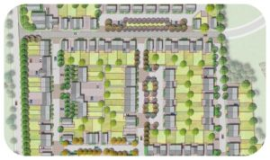 Davis Landscape Architecture Star Lane Ph 1 Great Wakering Home Zone Residential Landscape Rendered Masterplan Icon