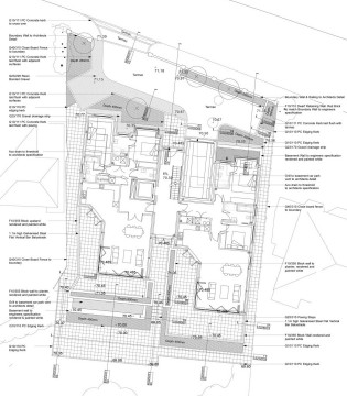Davis Landscape Architects Totteridge Lane London Residential Landscape Design Architect roof garden Technical Plan