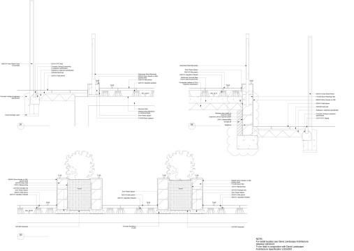 Davis Landscape Architects Totteridge Lane London Residential Lnadscape Architect Design roof garden Technical detail sections