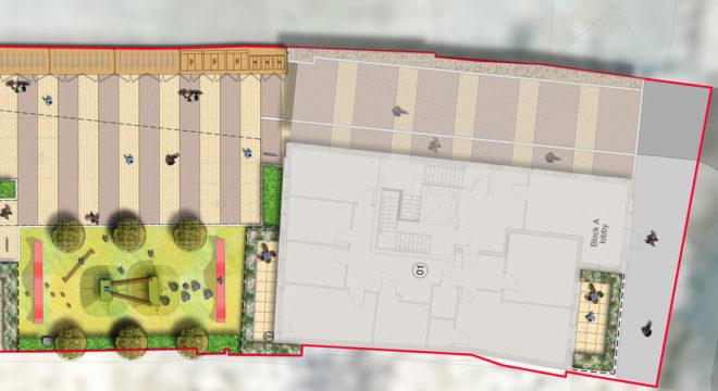 Davis Landscape Architecture Bow Road London Home Zone Residential Landscape Architect Technical Plan A