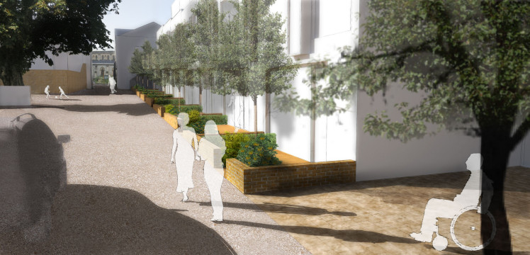 Davis Landscape Architects Highbury Grove London Shared Space Residential Landscape Architect Visualisation Render