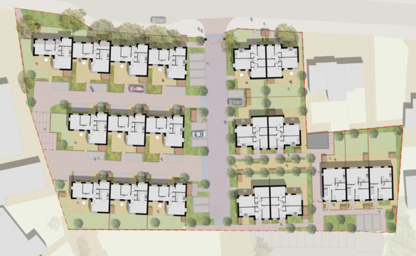Davis Landscape Architecture Albyns Close Havering London Residential Landscape Architect Render Masterplan Planning