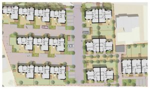 Davis Landscape Architecture Albyns Close London Residential Landscape Architect Render Masterplan Planning Icon