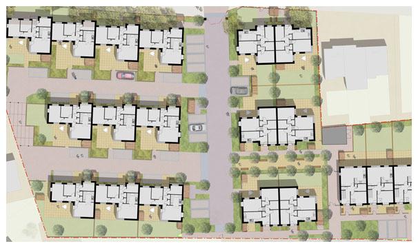 Davis Landscape Architecture Albyns Close London Residential Architect Render Masterplan Planning Icon