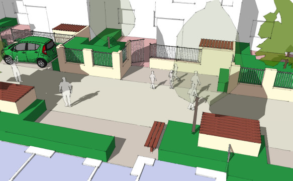 Davis Landscape Architecture Albyns Close London Residential Sketch Landscape Architect Home Zone Visulaisation