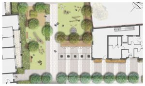 Davis Landscape Architecture Bow Road London Housing Residential Shared Space Play Landscape Architect Rendered Plan Icon