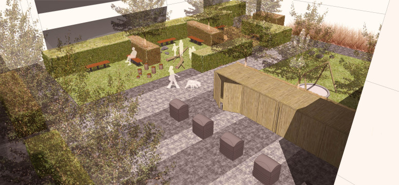 Davis Landscape Architecture Bow Road London Housing Residential Shared Space Play Landscape Architect Rendered Visulisation s